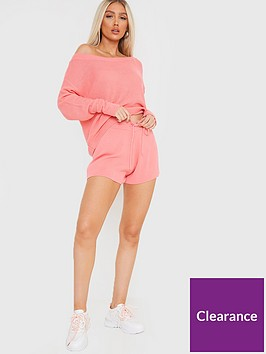 in-the-style-in-the-style-x-francesca-farago-knitted-shorts-pink