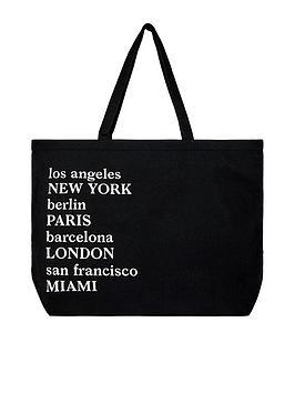 accessorize-organic-large-city-shopper-black