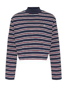 tommy-jeans-striped-hybrid-long-sleeve-top-multi