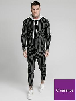sik-silk-muscle-fit-overhead-hoodie-blackwhite