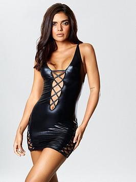ann-summers-samara-wet-look-dress-black