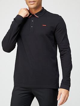 hugo-donol-long-sleeve-polo-shirt-blacknbsp