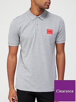 hugo-dereso-red-patch-logo-polo-shirt-silver