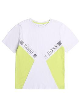 boss-boys-short-sleeve-colour-block-t-shirt-white