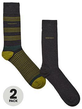 boss-bodywear-2-pack-rs-stripe-socks-charcoal