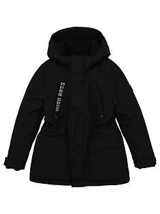 boss-boys-fleece-lined-hooded-parka-black