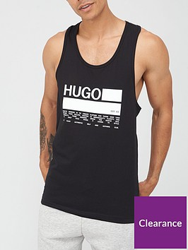 hugo-long-logo-vest-black