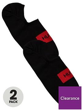 hugo-low-cut-2-pack-logo-trainer-liner-socks-black