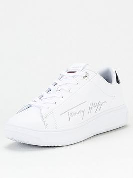 tommy-hilfiger-signature-leather-cupsole-trainersnbsp-whitenbsp