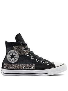 converse-chuck-taylornbspall-star-glitter-hi-tops-black