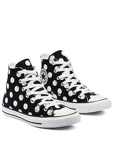 converse-chuck-taylornbspall-star-polka-hi-tops-blackwhitenbsp