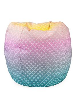Product photograph showing Rucomfy Mermaid Ombre Classic Beanbag
