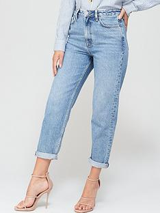 v-by-very-high-waistnbspmom-jean--nbspmid-wash