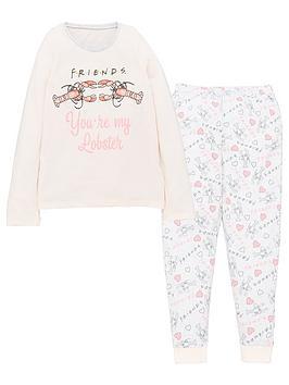 friends-girls-friends-youre-my-lobster-long-sleeve-pjs-pink