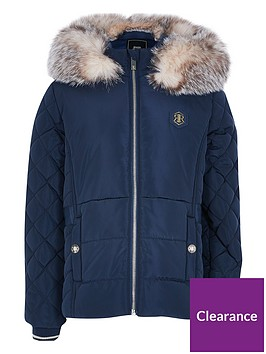 river-island-girls-padded-coat-navy