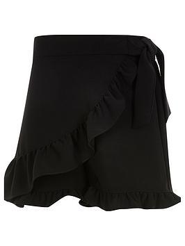 river-island-girls-wrap-frill-skort-black