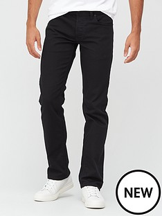 diesel-larkee-x-mid-rise-straight-leg-jean-black
