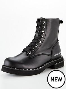 calvin-klein-nannie-chunky-flat-biker-boot-black