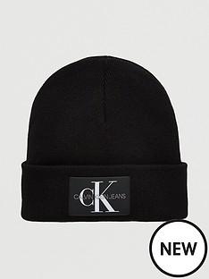 calvin-klein-jeans-knitted-beanie-hat-black