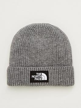 the-north-face-box-logo-cuff-beanie-hat-grey