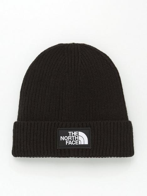 the-north-face-childrens-box-logo-cuff-beanie-hat-black