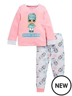 lol-surprise-girlsnbspsnow-queen-long-sleeve-pjs-pink