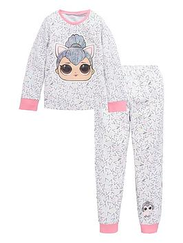 lol-surprise-girls-lol-surprise-kitty-queen-long-sleeve-pjs-grey