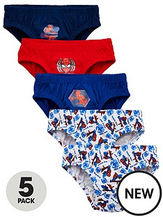 spiderman-boys-spidermannbspbriefs-5-pack-multinbsp