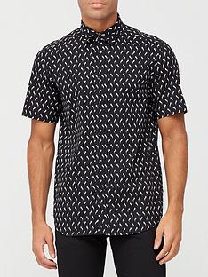 diesel-all-over-print-short-sleeve-shirt-black