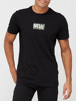 diesel-neon-detail-logo-t-shirt-black