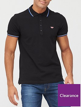diesel-polo-shirt-with-tipping-black