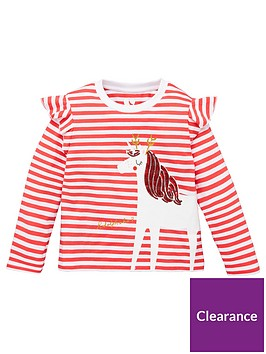 mini-v-by-very-girls-christmas-stripe-unicorn-long-sleeve-t-shirt-red