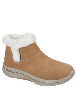 skechers-gowalk-arch-fit-faux-fur-ankle-boot-chestnut