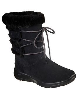 skechers-on-the-go-joy-lace-detail-calf-boot-black