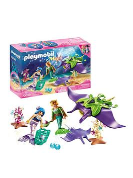 playmobil-playmobil-70099-magic-mermaids-pearl-collectors-with-manta-ray-family