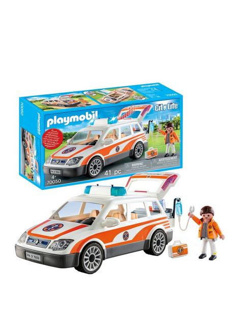 playmobil-70050-city-life-hospital-emergency-car-with-lights-and-sound