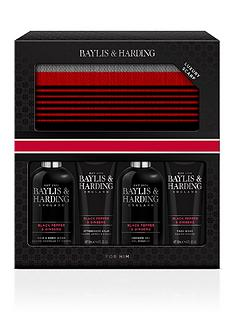 baylis-harding-signature-mens-black-pepper-amp-ginseng-scarf-gift-set
