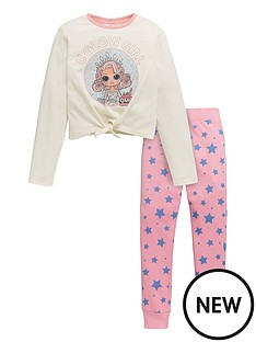 lol-surprise-girlsnbspomg-u-glow-girl-tie-waist-detail-pjs-oatmeal
