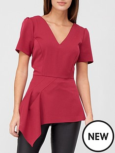 v-by-very-asymmetric-structured-blouse-berry