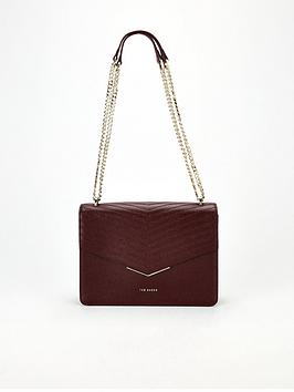 ted-baker-patent-quilted-envelope-cross-body-bag-purple