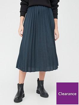 v-by-very-satin-pleated-skirt-navy