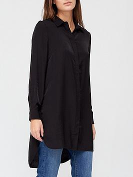 v-by-very-premiumnbsplonglinenbspshirt-black