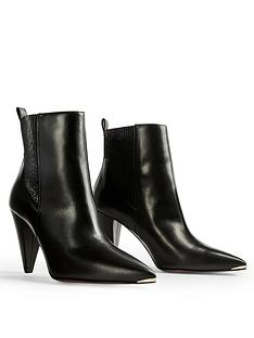 ted-baker-leather-cone-heeled-boots-black