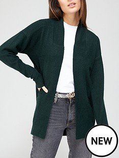v-by-very-longline-pointelle-cardigan-forrest-green