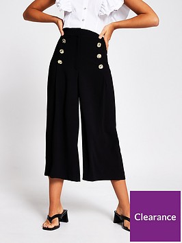 river-island-button-detail-culotte-black
