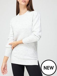 v-by-very-dropped-hem-cosy-knitted-jumper-grey-marl