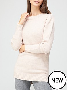 v-by-very-dropped-hem-cosy-knitted-jumper-dusty-pink