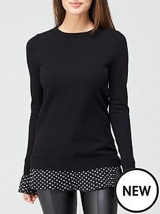 v-by-very-2-in-1-polka-dot-shirt-knit-jumper-blacknbsp