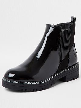 river-island-wide-fit-patent-chunky-chelsea-boot-black