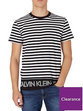 calvin-klein-jeans-outline-logo-striped-t-shirt